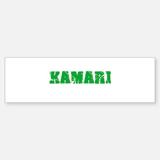 Kamari Name Weathered Green Design Bumper Bumper Bumper Sticker