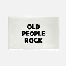 Old People Rock Rectangle Magnet