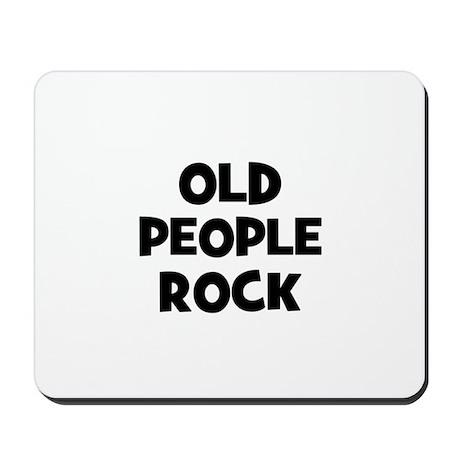 Old People Rock Mousepad