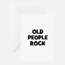 Old People Rock Greeting Cards (Pk of 10)