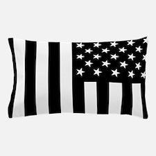 U.S. Flag: Black, Up & Down Pillow Case