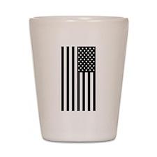 U.S. Flag: Black, Up & Down Shot Glass