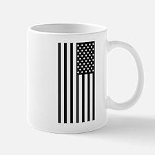 U.S. Flag: Black, Up & Down Mugs