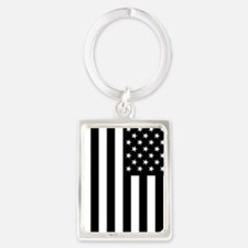 U.S. Flag: Black, Up & Down Keychains