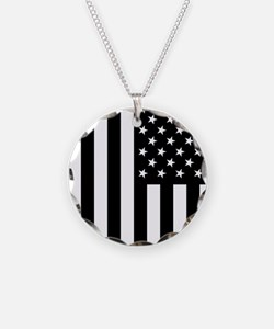 U.S. Flag: Black, Up & Down Necklace
