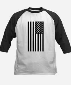 U.S. Flag: Black, Up & Down Baseball Jersey