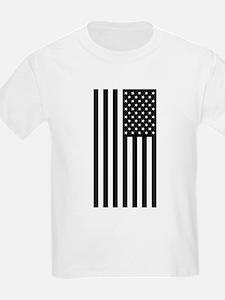 U.S. Flag: Black, Up & Down T-Shirt