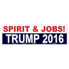 Trump - Spirit Jobs For America Bumper Bumper Sticker