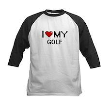 I Love My Golf Digital Retro Desig Baseball Jersey