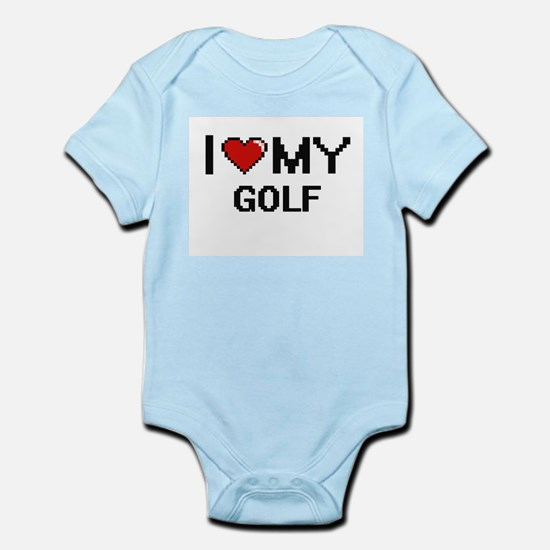 I Love My Golf Digital Retro Design Body Suit