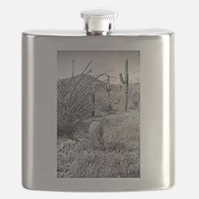 Cowboy Garden Desert Flask