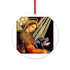 Madonna/Rottweiler Ornament (Round)