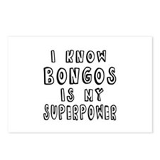 Bongos is my superpower Postcards (Package of 8)
