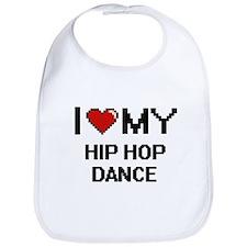I Love My Hip Hop Dance Digital Retro Design Bib