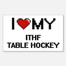 I Love My Ithf Table Hockey Digital Retro Decal