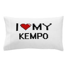 I Love My Kempo Digital Retro Design Pillow Case
