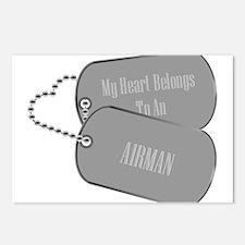 My Heart Belongs to an Airman Postcards (Package o