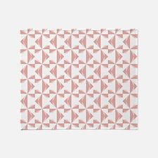 Dusty Rose Pinwheels Throw Blanket