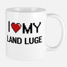 I Love My Land Luge Digital Retro Design Mugs