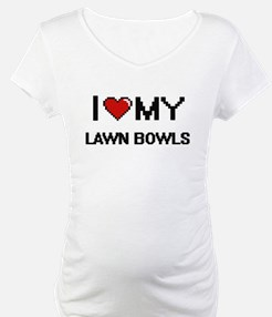 I Love My Lawn Bowls Digital Ret Shirt