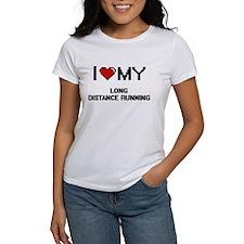 I Love My Long Distance Running Digital Re T-Shirt