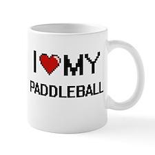 I Love My Paddleball Digital Retro Design Mugs