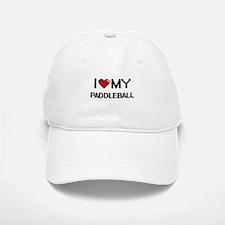 I Love My Paddleball Digital Retro Design Baseball Baseball Cap