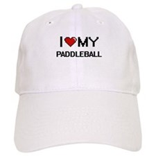 I Love My Paddleball Digital Retro Design Baseball Cap