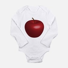 Unique Red apple Long Sleeve Infant Bodysuit
