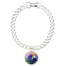 Purple Violet Basket  Bracelet