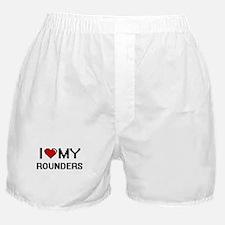 I Love My Rounders Digital Retro Desi Boxer Shorts