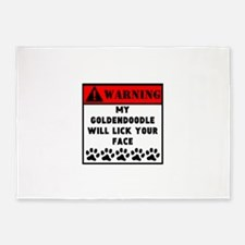 Goldendoodle Will Lick Your Face 5'x7'Area Rug
