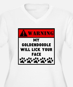 Goldendoodle Will Lick Your Face Plus Size T-Shirt