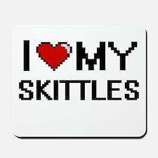 I Love My Skittles Digital Retro Design Mousepad