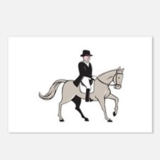Equestrian Rider Dressage Cartoon Postcards (Packa