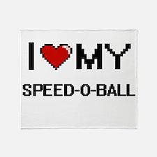 I Love My Speed-O-Ball Digital Retro Throw Blanket