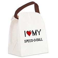 I Love My Speed-O-Ball Digital Re Canvas Lunch Bag