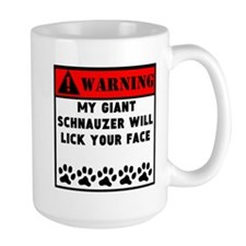 Giant Schnauzer Will Lick Your Face Mugs