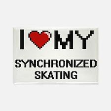 I Love My Synchronized Skating Digital Ret Magnets
