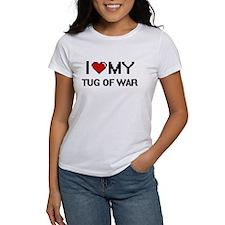 I Love My Tug Of War Digital Retro Design T-Shirt