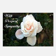 With Deepest Sympathy ros Postcards (Package of 8)