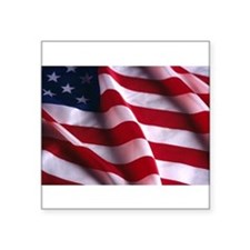 "Cute Patriotic Square Sticker 3"" x 3"""