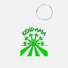 Kendama Sun Keychains (front & back)
