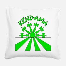 Kendama Sun Square Canvas Pillow