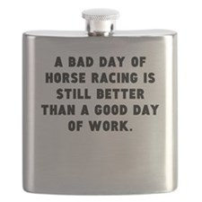 A Bad Day Of Horse Racing Flask