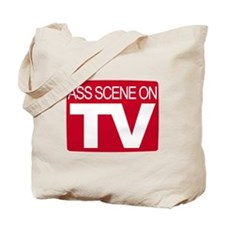 Ass Scene On TV Tote Bag