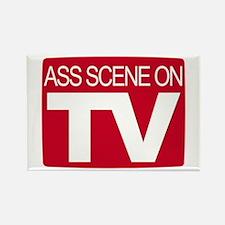 Ass Scene On TV Rectangle Magnet