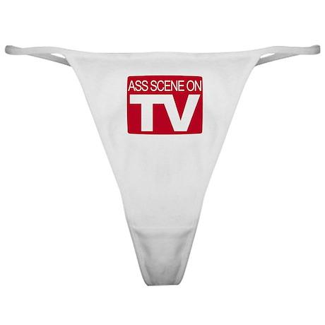 Ass Scene On TV Classic Thong