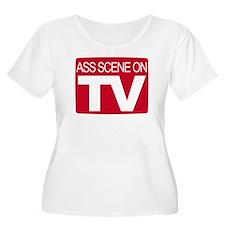 Ass Scene On TV T-Shirt