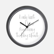 knittingblog.png Wall Clock